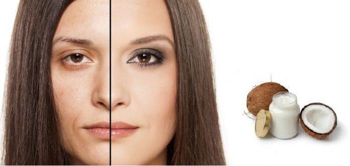 get rid of Wrinkles Using Coconut Oil
