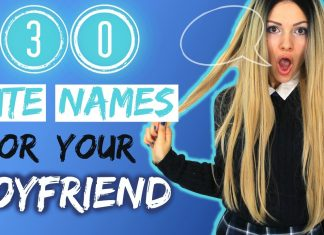 Cute Names to Call Your Boyfriend
